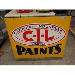 Vintage Double Sided Porcelain C-I-L Paint Sign