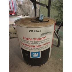 Vintage 20 Litre GM Engine Shampoo Can