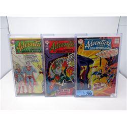 "3 Vintage 12¢ ""Adventure"" DC Comics"