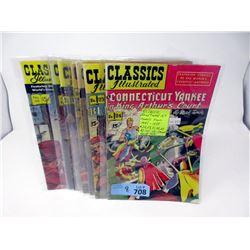 "8 Vintage ""Classic's Illustrated"" 15¢  Comic Books"