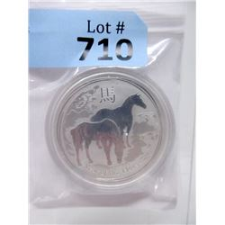 "2 Ounce .999 Fine Silver ""Year of the Horse"" Coin"