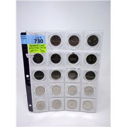 20 Sequential Canadian $1 Coins - 1968 to 1986