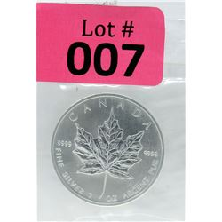 1 Oz 2006 Canada Maple Leaf .9999 Fine Silver Coin