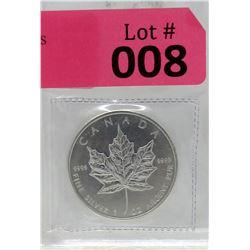 1 Oz 2010 Canada Maple Leaf .9999 Fine Silver Coin