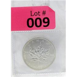 1 Oz 2011 Canada Maple Leaf .9999 Fine Silver Coin