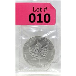 1 Oz 2012 Canada Maple Leaf .9999 Fine Silver Coin