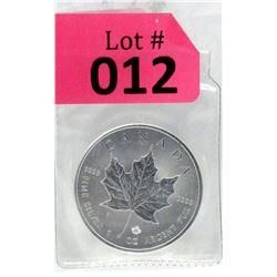 1 Oz 2015 Canada Maple Leaf .9999 Fine Silver Coin