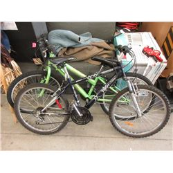 One 18 Speed & One 21 Speed Mountain Bike
