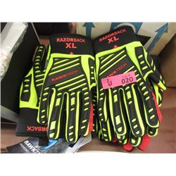 6 New Pairs of XL Rawktech Heavy Duty Work Gloves