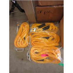 4 New 25 Foot Nylon Tow Ropes