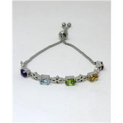 Multi Gemstone Tennis Bracelet