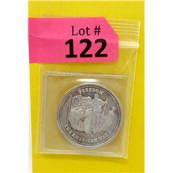 1 Oz. Johnson Matthey .999 Fine Silver 1986 Round