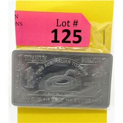 1 Oz. Australia Mint .999 Titanium Bullion Bar