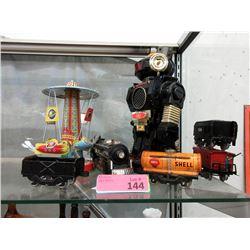 1980 Omni Animated Robot, Tin Carousel and More