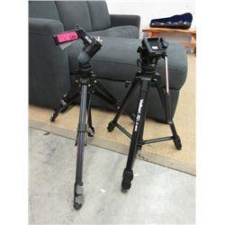 1 Velbon and 1 Slik Camera Tripods
