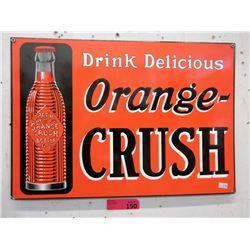 "Porcelain Orange Crush Sign - 14"" x 20"""