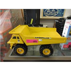 Pressed Metal Caterpillar Dump Truck Toy