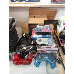 11 Assorted Game Controllers