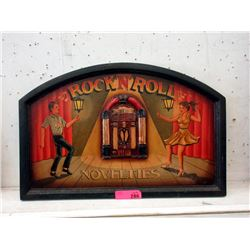 "2D Wood Rock N Roll Sign - 24"" x 16"""