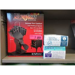 Heat Power Stove Fan & Disposable Gloves