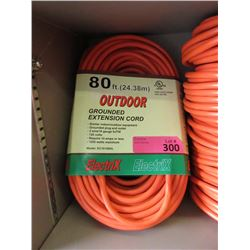 New 80 Foot Outdoor Grounded Extension Cord