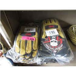 12 Pairs of New Anarchy Welding Gloves - Size M