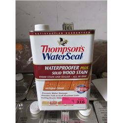 4 Gallons of Thompsons Water Seal Wood Stain