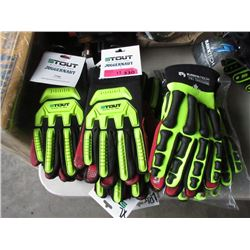 13 Pairs of New Rawktech Gloves - L & XL