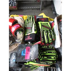 11 Pairs of New Rawktech Gloves - M & L