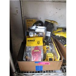 Box of DeWalt Tools and Accessories