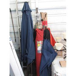 7 Assorted Patio Umbrellas - Store Returns
