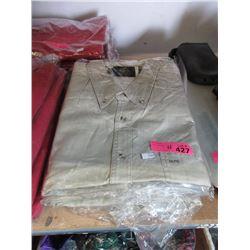 4 New Beige Denim Shirts - Size XXL