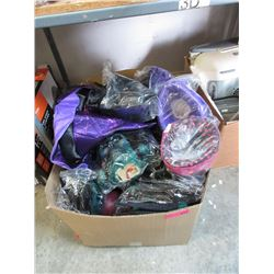 Box of New Halloween Toys & Costume Parts