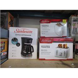 Coffeemaker & 2 Toasters - Store Returns