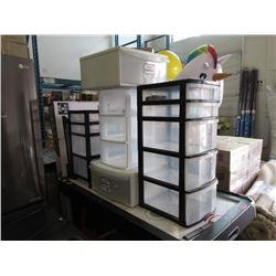 5 Plastic Storage Drawers & Carts