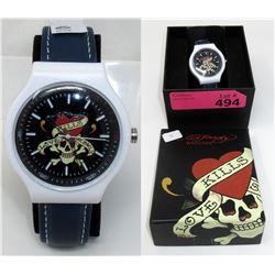 "New Ed Hardy Wrist Watch - 1.5"" Diameter Face"