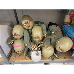 "7 New 20"" Crawling Halloween Dolls"