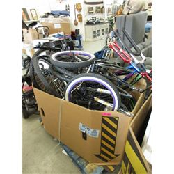 Skid of Bike Frames & Parts - Store Returns
