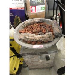 "Gas Fire Bowl - 29"" Tall x 21"" Diameter"