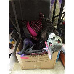 Box of New Halloween Costume Parts & Toys