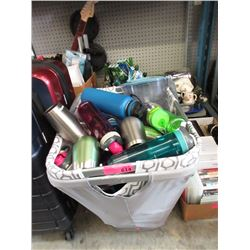 Large Bin of Assorted Beverage Containers