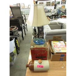 Lamp & 3 Vintage Collectibles