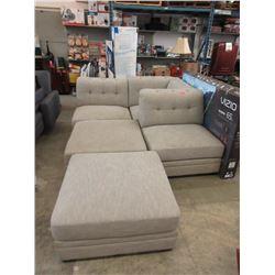 5 Piece Modular Fabric Sofa - Store Return
