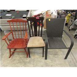 Wood Rocker, Dining Chair & Patio Chair
