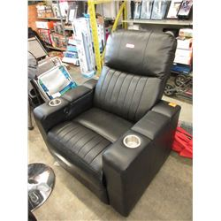 Black Bonded Leather Chair - Store Return