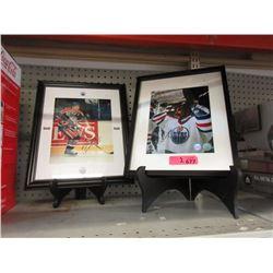 2 Autographed Edmonton Oilers Hockey Photos