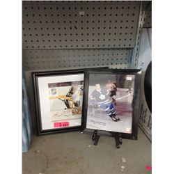 2 Framed & Certified Autographed Hockey Photos
