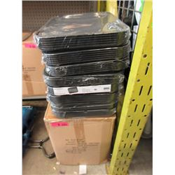 2 Cases of New Black Food Service Trays - No Logos