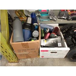 2 Boxes of Assorted Beverage Containers