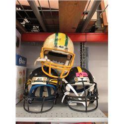 3 Football Helmets
